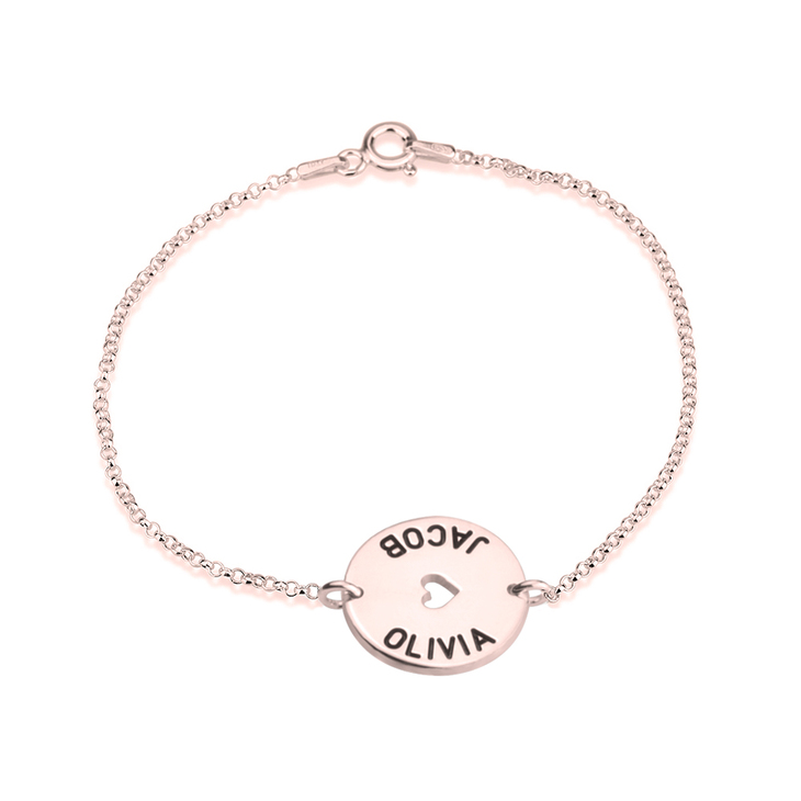 Heart with Names Bracelet