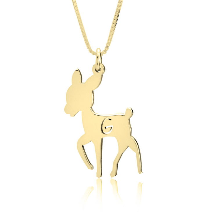 Personalized Deer Pendant Necklace
