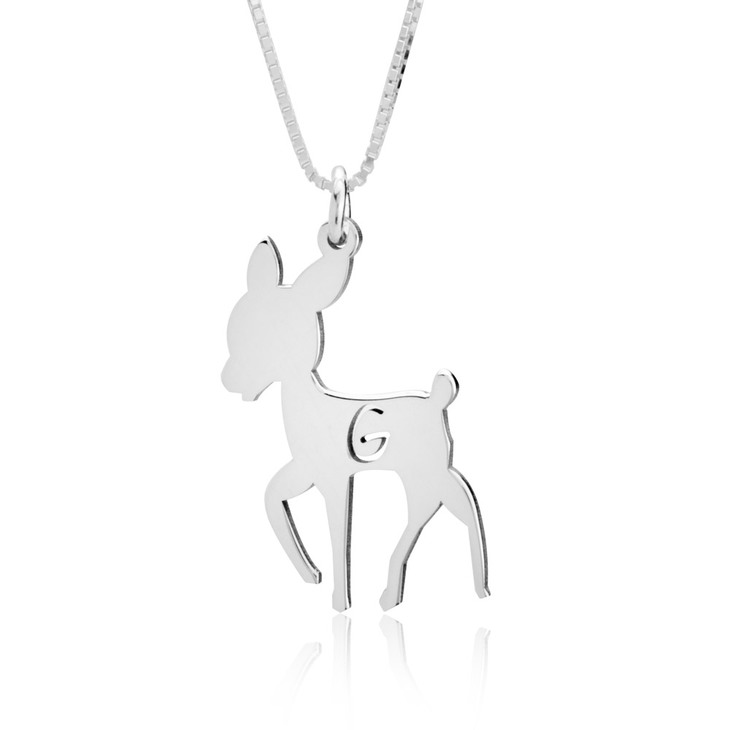 Personalised Deer Pendant Necklace