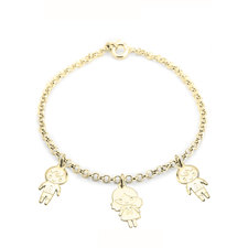 Mother's bracelet with Boy & Girls Charms