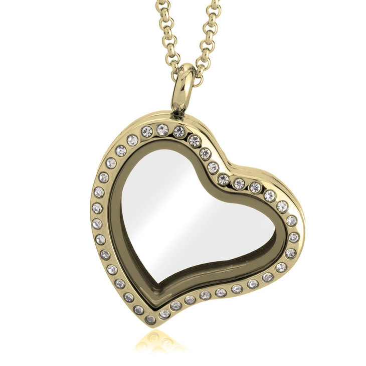 Gold Heart Locket  - Picture 2