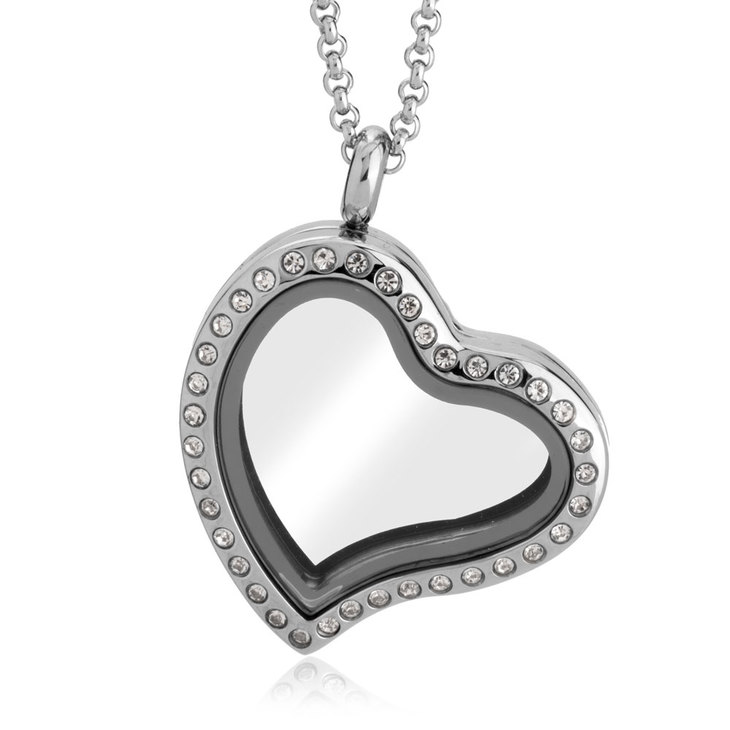 Silver Heart Locket  - Picture 2