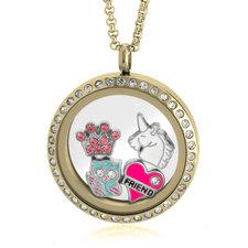 Medallón Flotante Dorado