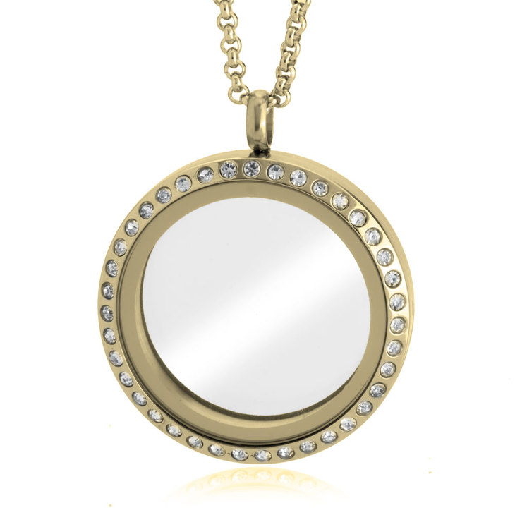 Gold Floating Locket - Picture 2