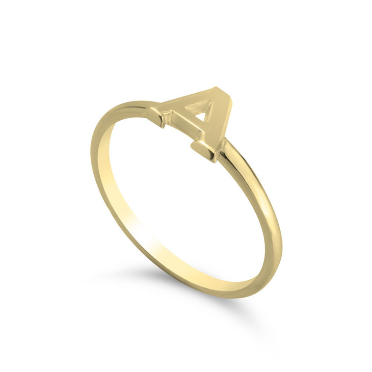 Bague Initiale Empilable