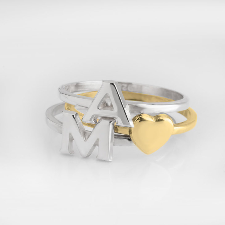 Stackable Initial Rings - Picture 2