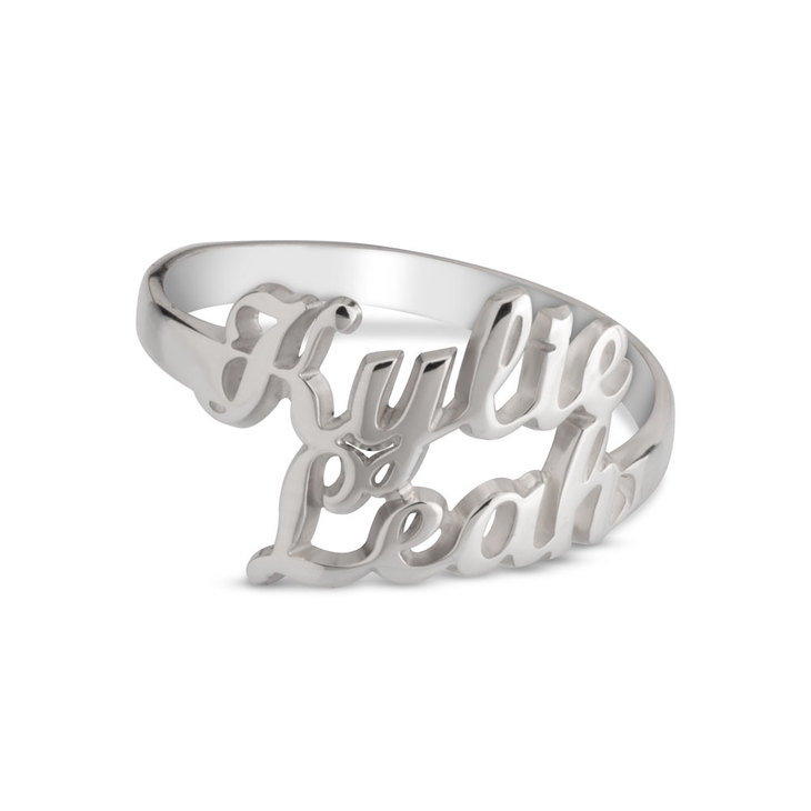 Personalized Two / Three Names Ring