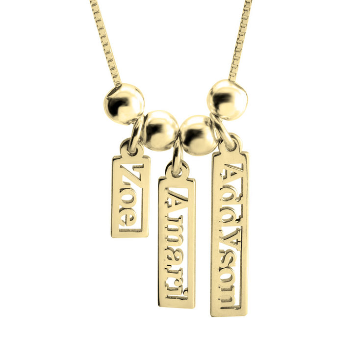 Vertical Multiple Name Necklace - Picture 2