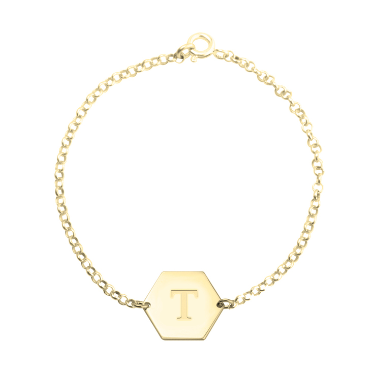Personalized Hexagon Bracelet
