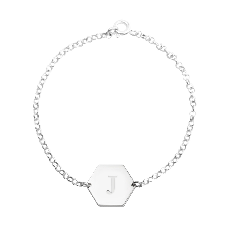 Personalised Hexagon Bracelet