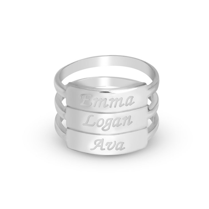 Stackable Name Rings  - Picture 4