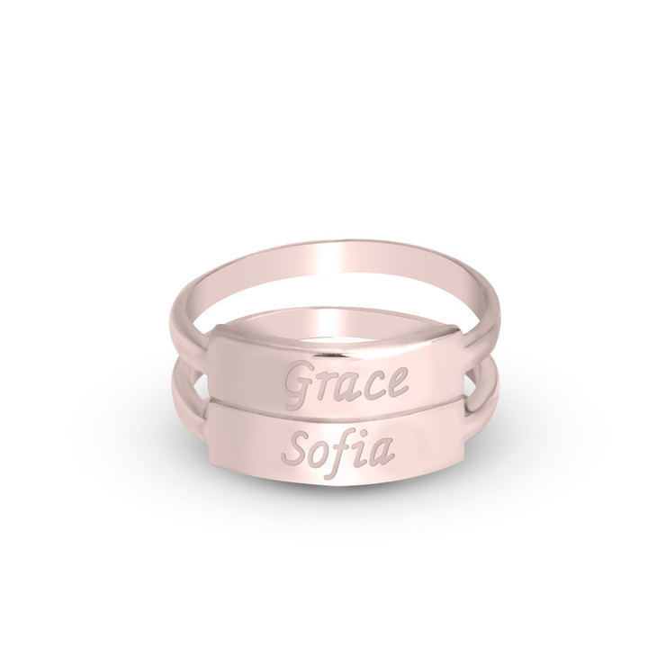 Stackable Name Rings - Picture 2