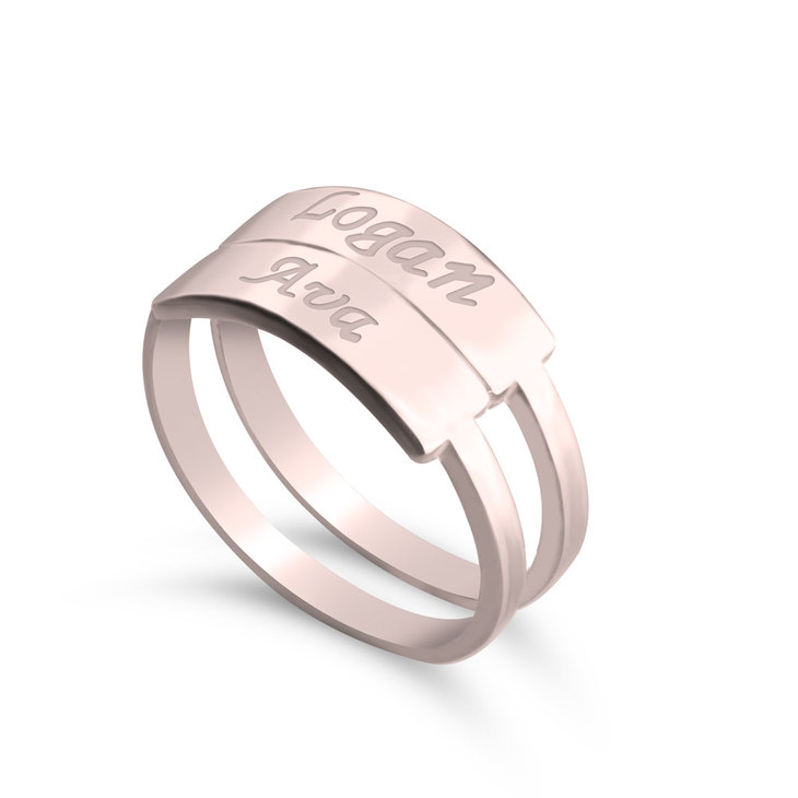 Stackable Name Rings - Picture 3