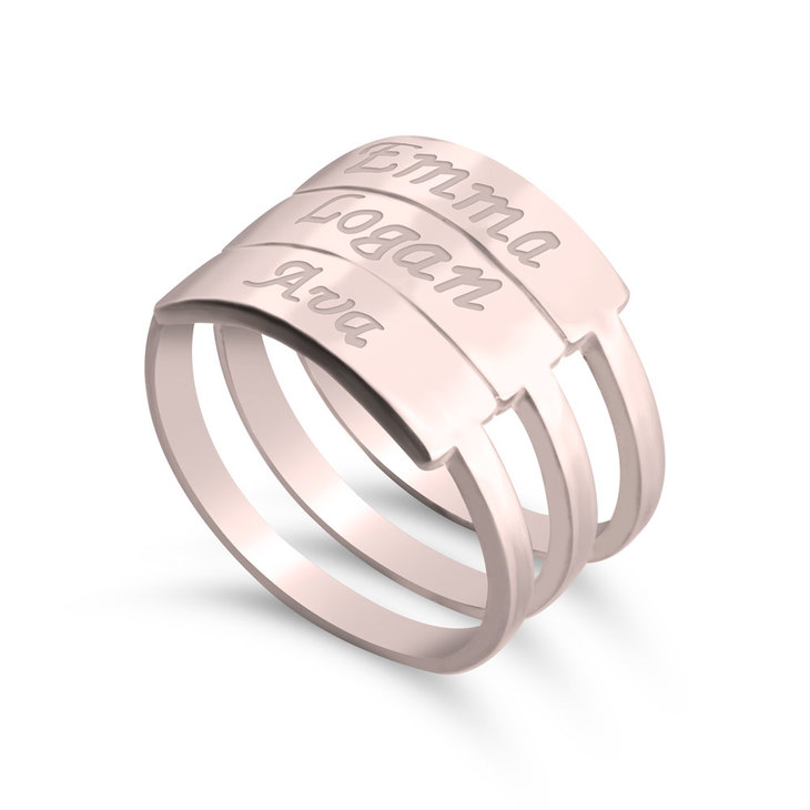Stackable Name Rings - Picture 5