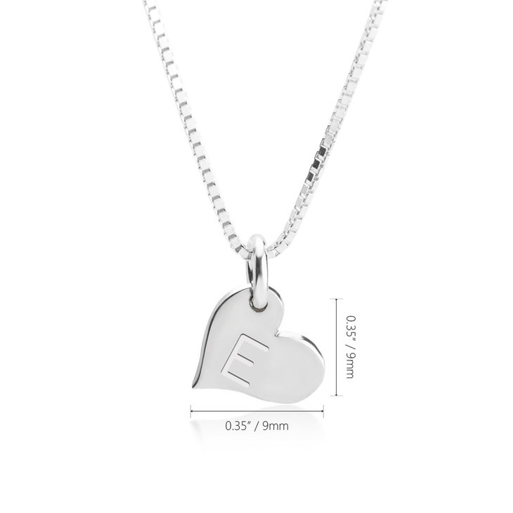 Heart Initial Necklace - Information