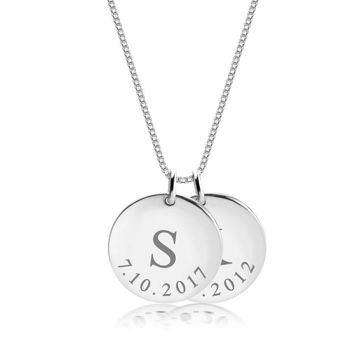 Personalized Date Necklace  - Picture 2
