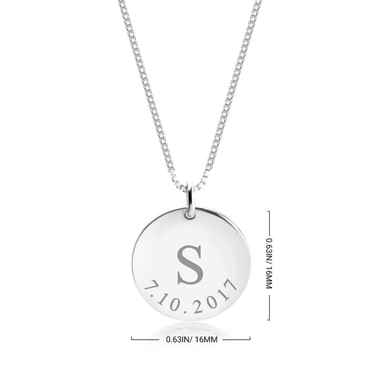 Personalized Date Necklace - Information