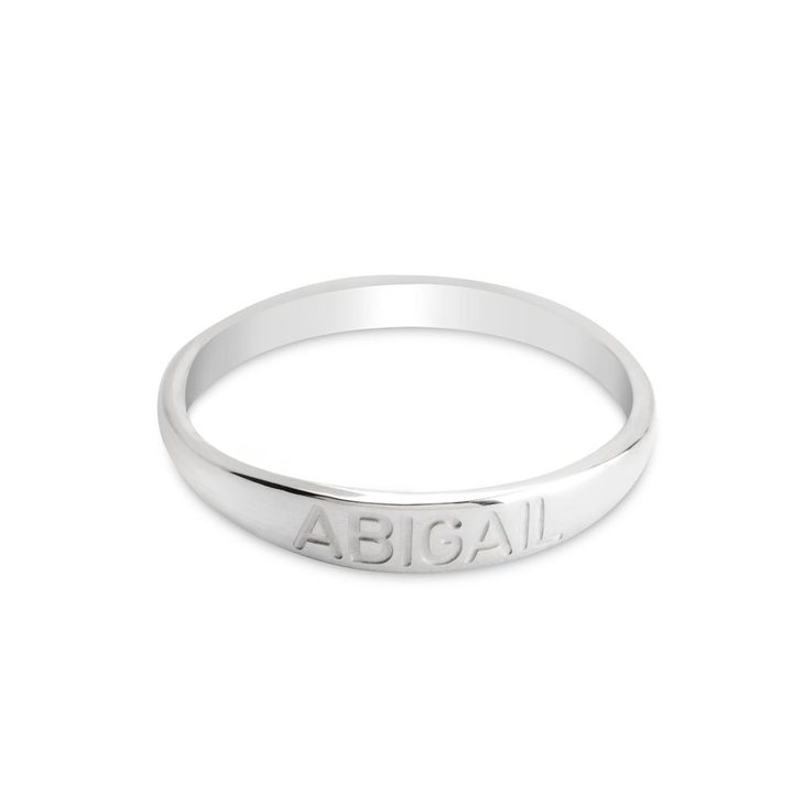 Name Engraved Ring