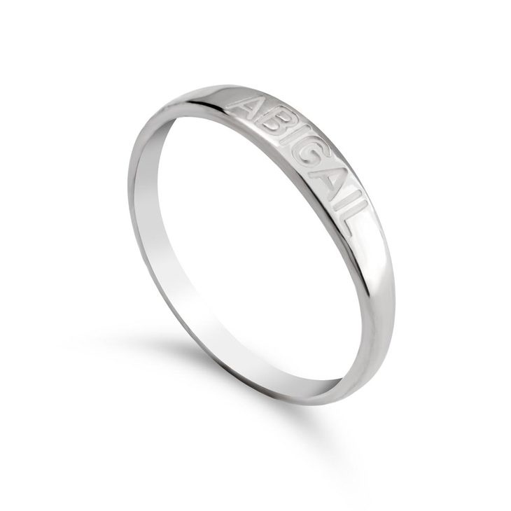 Name Engraved Ring - Picture 2
