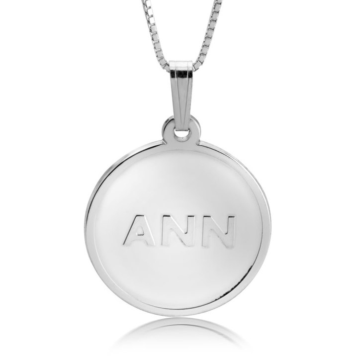 Delicate Initial Disc Necklace
