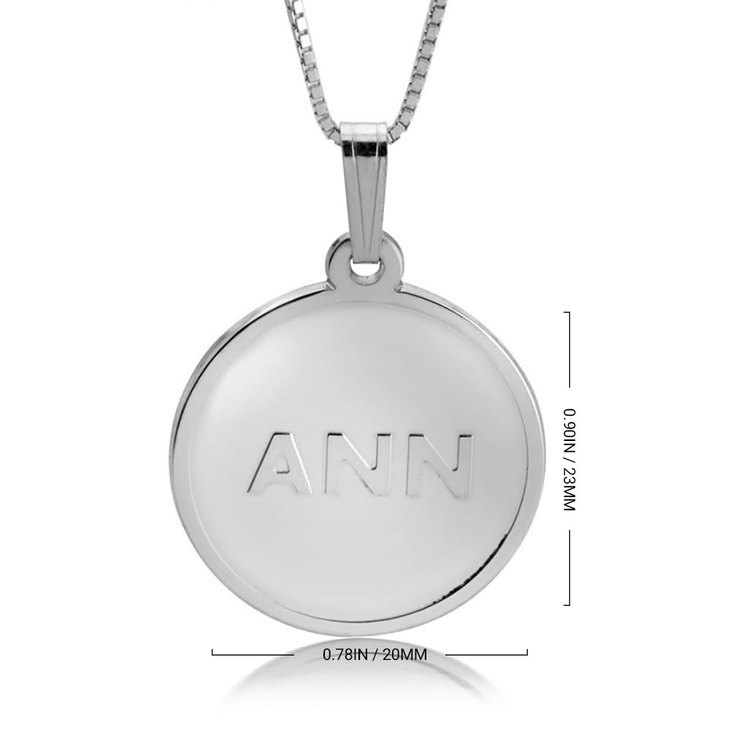 Delicate Initial Disc Necklace - Information