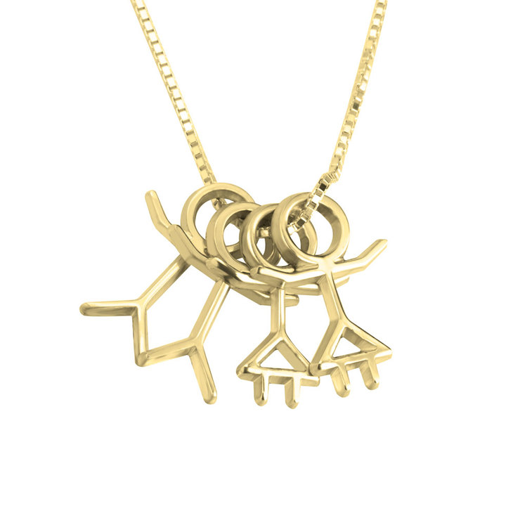 Stick Figure Necklace