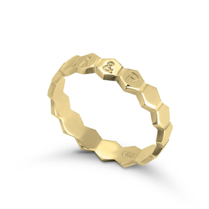 Personalised Honeycomb Ring