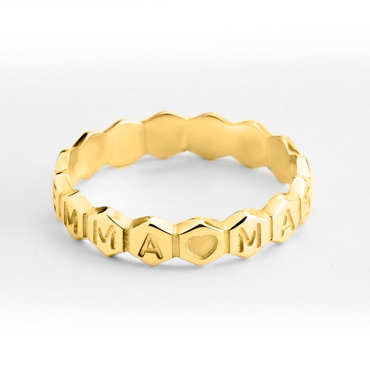 Personalised Honeycomb Ring  - Picture 3