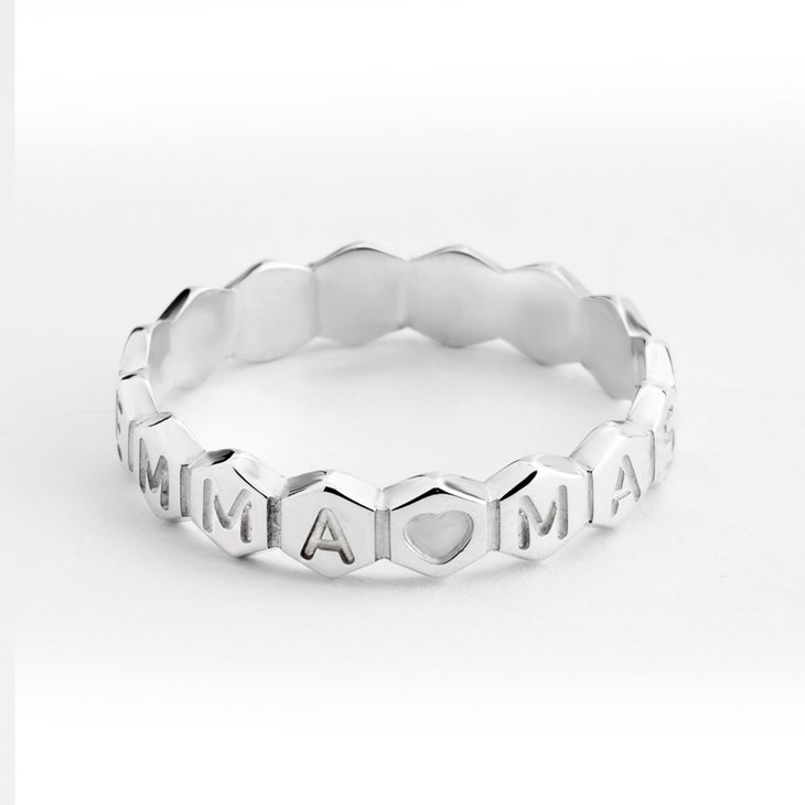 Personalized Honeycomb Ring - Picture 3