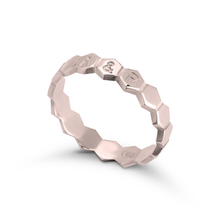 Personalized Honeycomb Ring