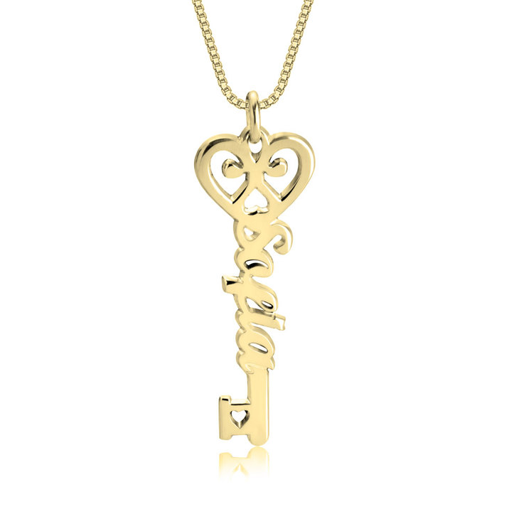 Love Heart Key Necklace