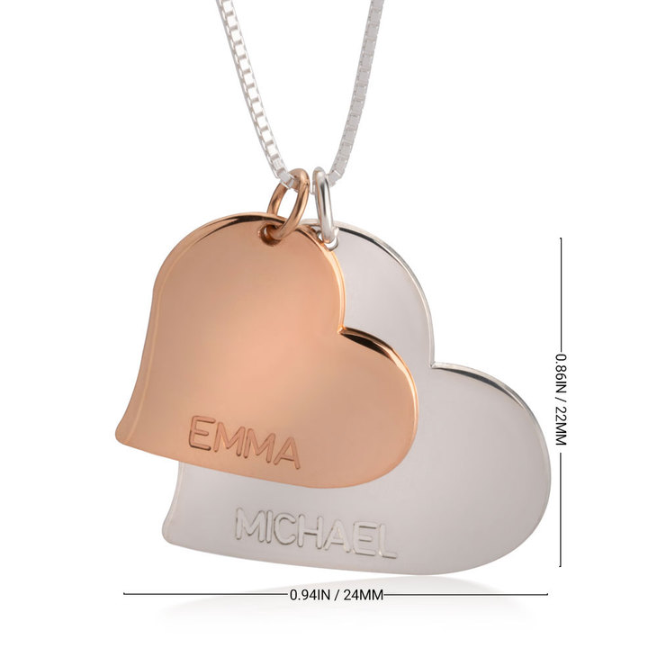 Two Tone Heart Necklace - Information