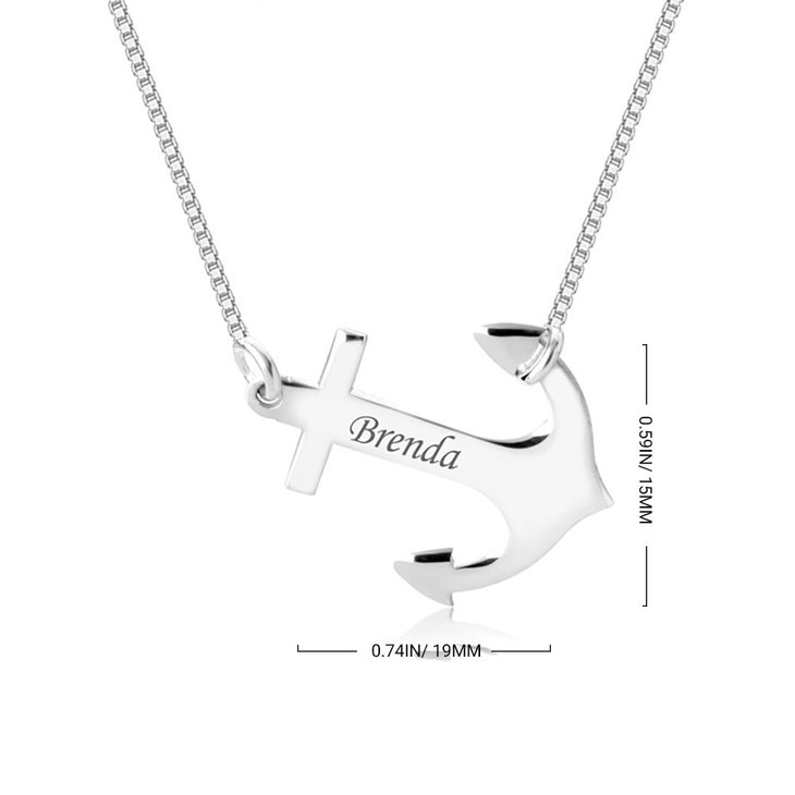 Personalized Anchor Pendant Necklace - Information