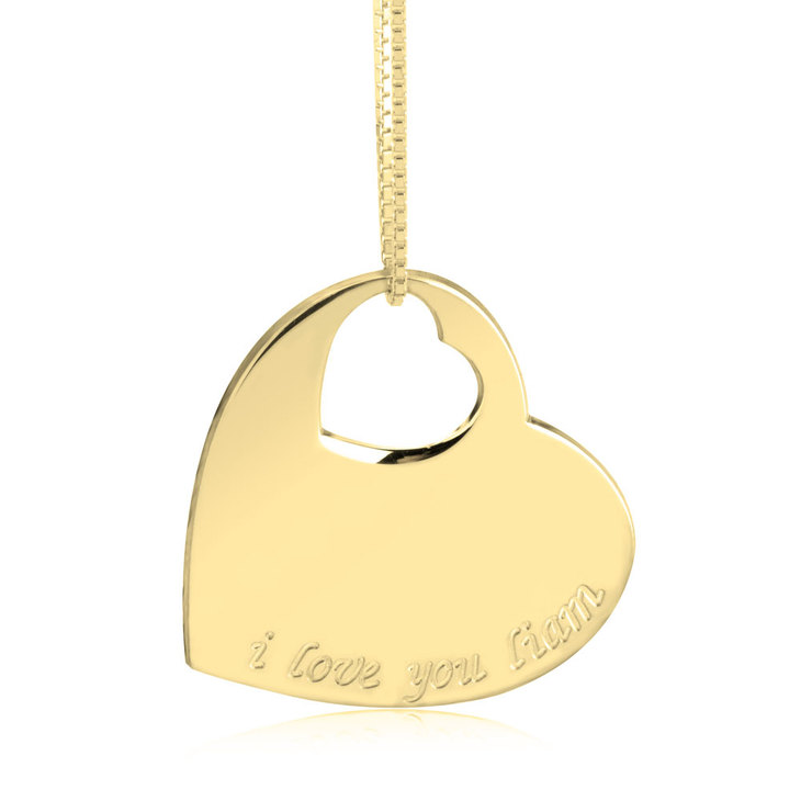 Small Cut Out Heart Necklace