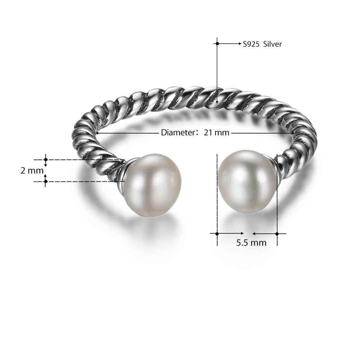 Silver Pearl Ring  - Picture 3