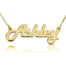 14K Gold Italic Name Necklace