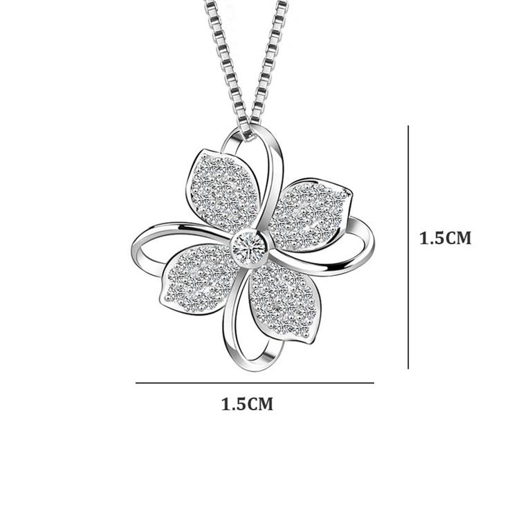 Flower Pendant Necklace - Picture 2