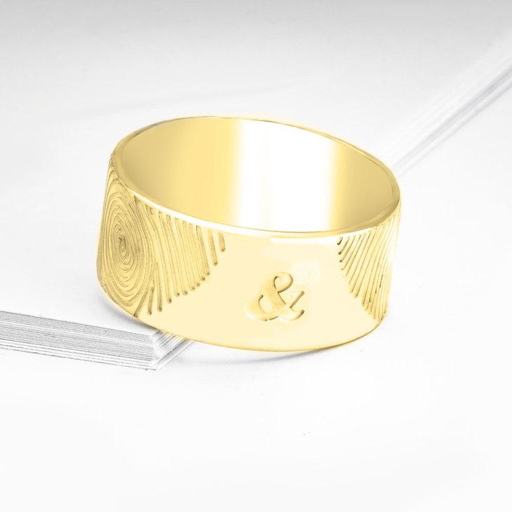 Fingerprint Couple Ring - Picture 2