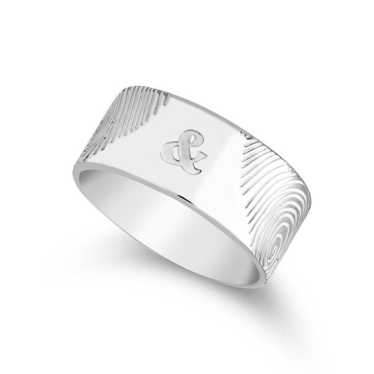 Fingerprint Couple Ring