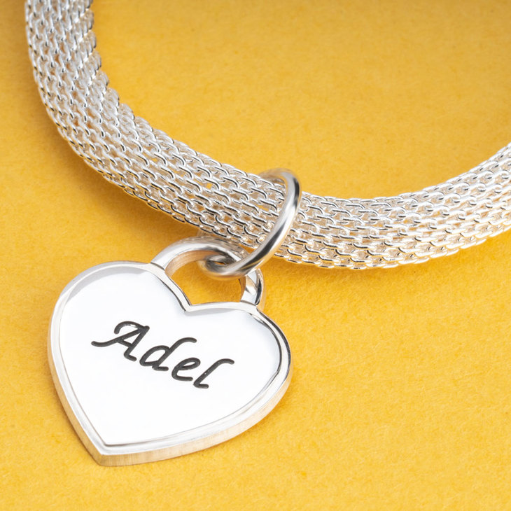 Personalized Heart Bracelet - Picture 2