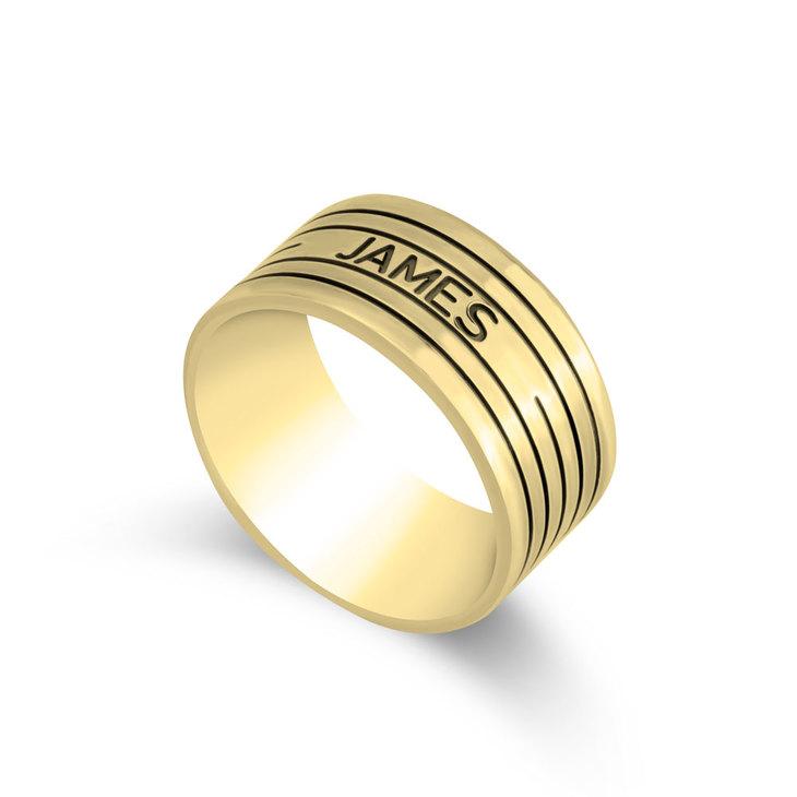 Engraved Ring for Men