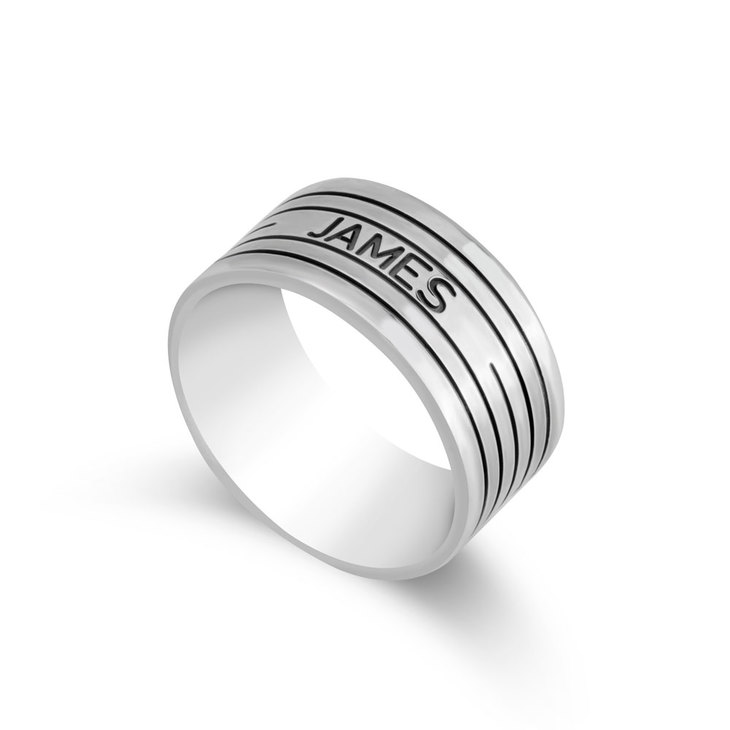 Engraved Ring for Men
