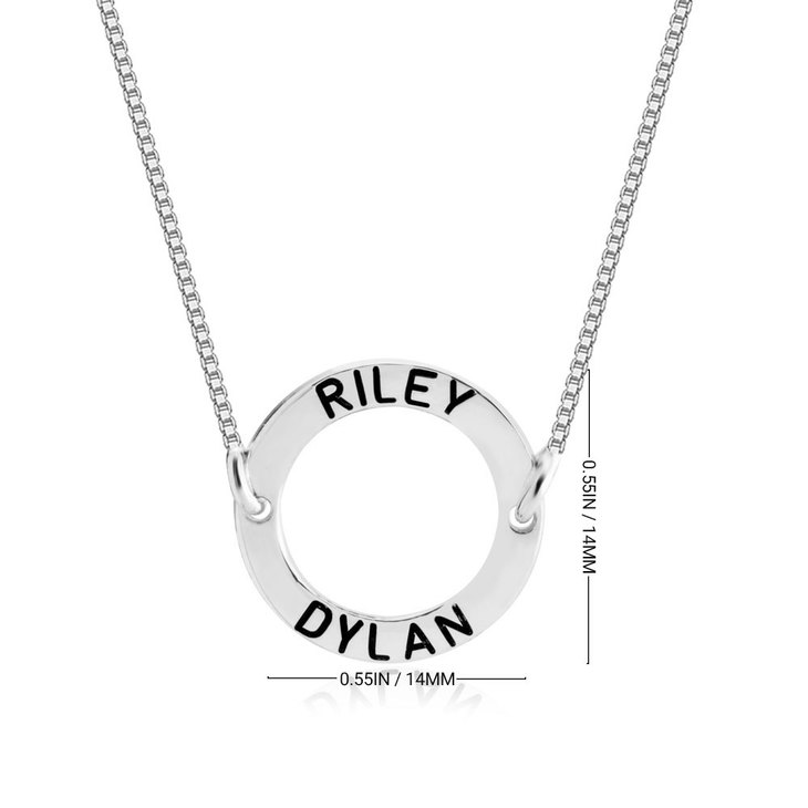 Personalized Circle Pendant Necklace - Information