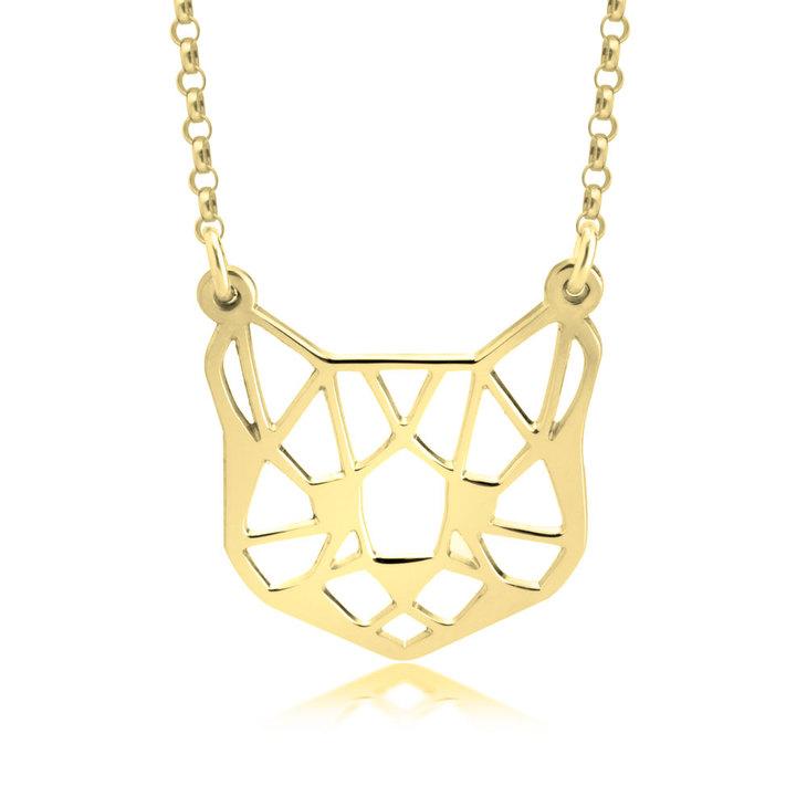 Origami Cat Necklace