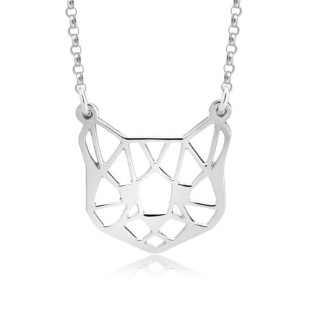 Collier Chat Origami