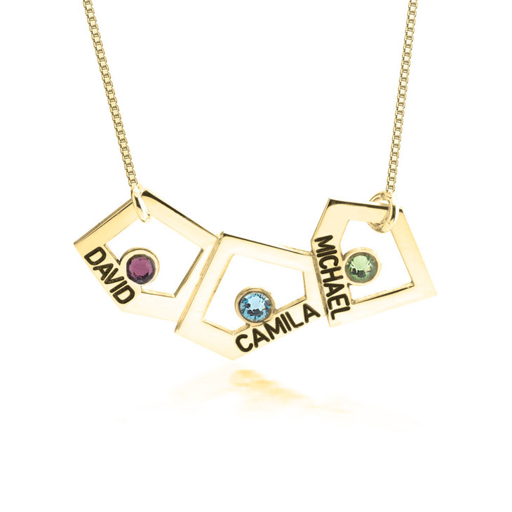 Geometric Mother Necklace