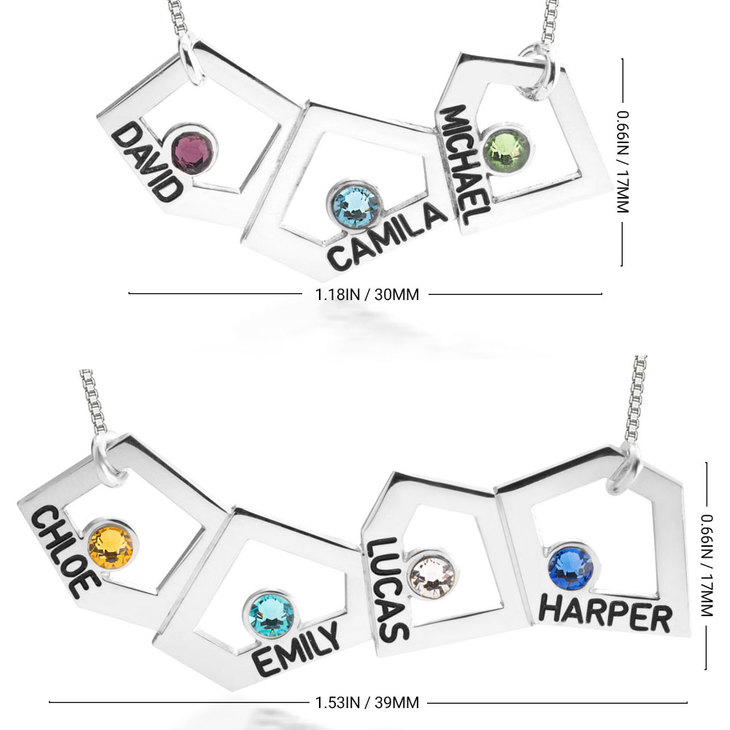 Geometric Mother Necklace - Information