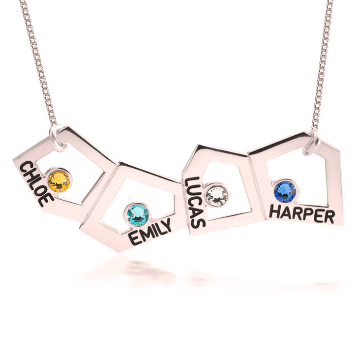 Geometric Mother Necklace - Picture 2