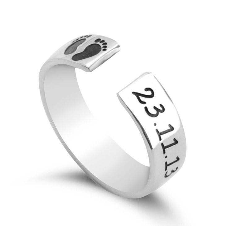 Custom Baby Footprint Ring