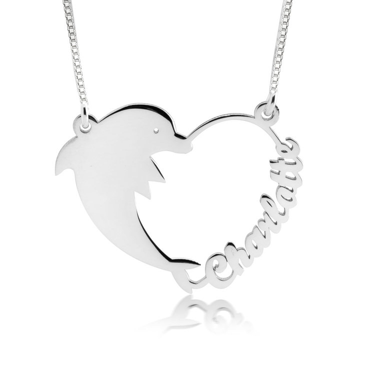 Dolphin Heart Necklace